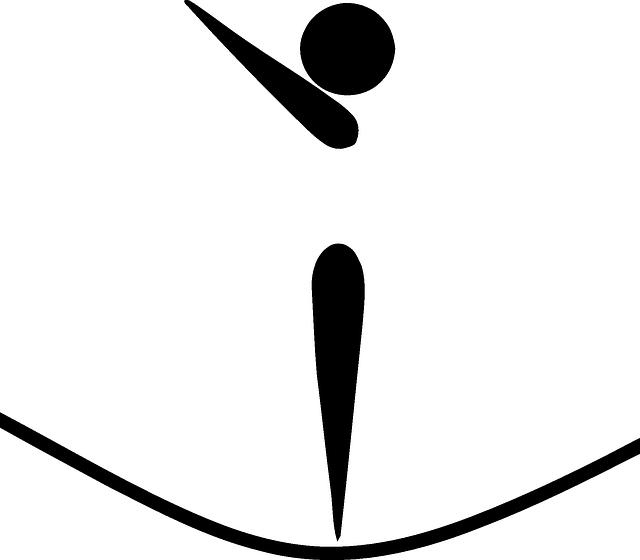 piktogram, panáček, skok