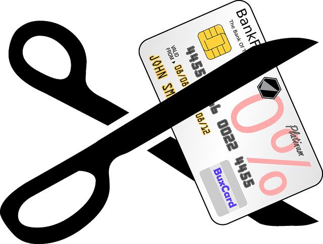 přestřižení kreditky