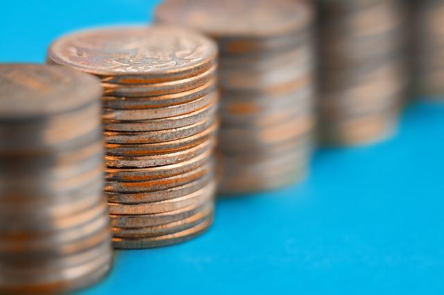peníze, mince, komínky