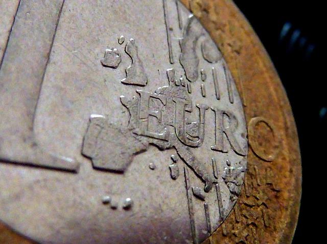 mince, 1 euro – detail