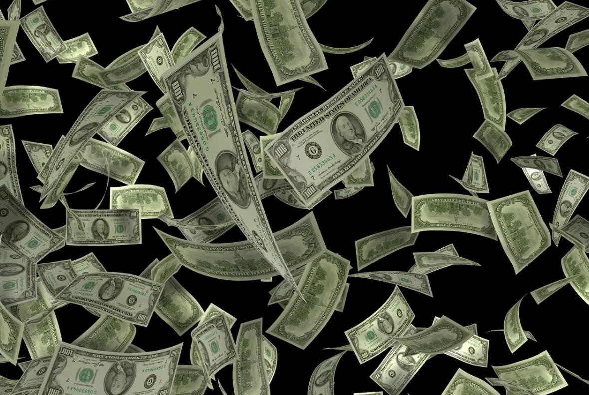 letající peníze