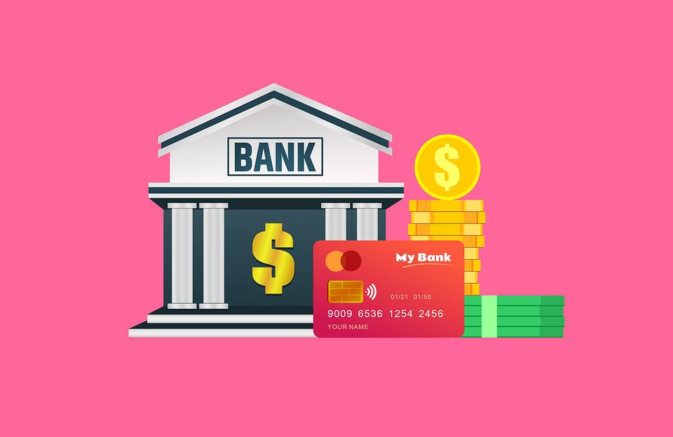 peníze v bance